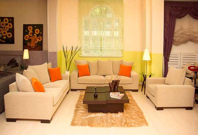 современный интерьер гостиной - уют