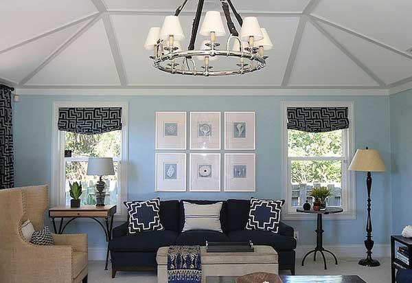 оттенки синего для гостиной