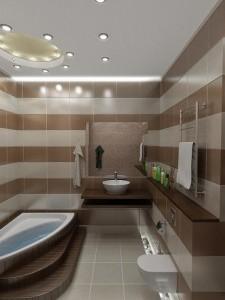 горизонтальная полоса по стенам в дизайне