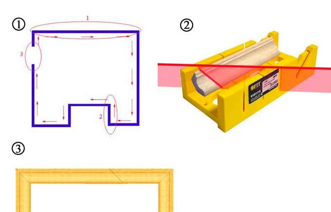 схема монтажа деревянного плинтуса