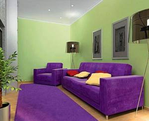Фиолетовый с салатовым