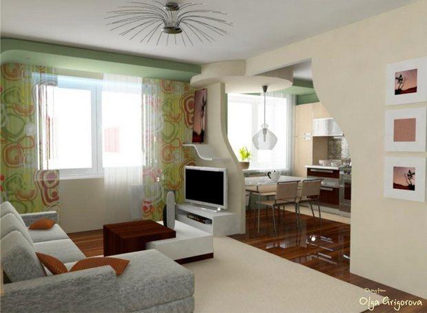 фото светлой гостиной