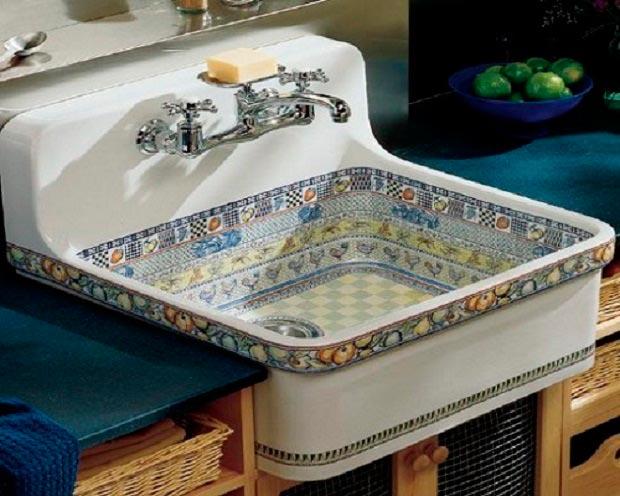 фото керамической раковины