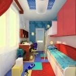 Узкая детская комната  — уютный дизайн возможен