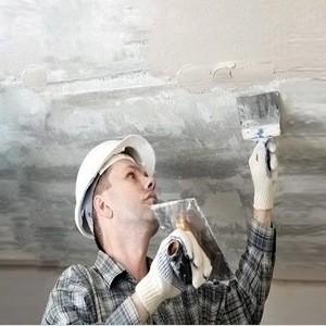Шпаклёвка и грунтовка потолка