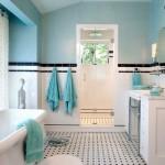 Скандинавский стиль в интерьере ванной