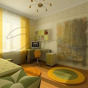 светлый вариант от мебели до мелких деталей