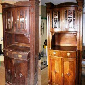 комод до и после реставрации